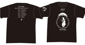 BLACK FLAME TOUR Tシャツ