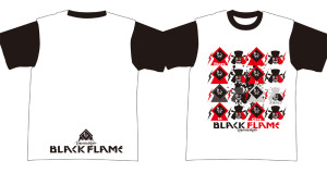 BLACK FLAME TOUR Tシャツ ラグラン